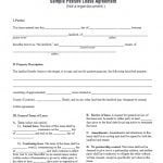 Sample Pasture Lease Agreement