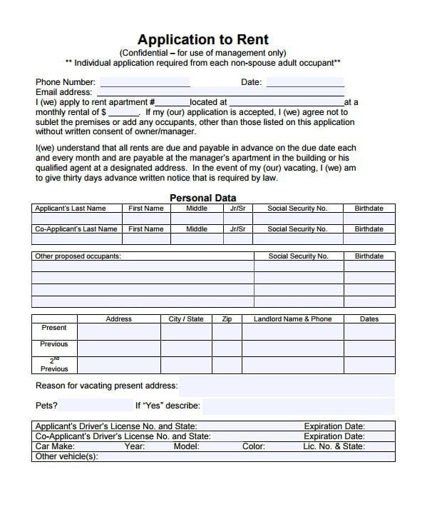 Alaska Rental Application