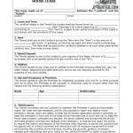 Sample House Lease Agreement