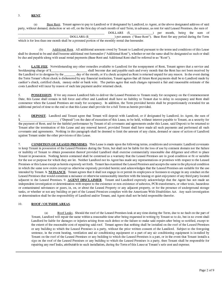 Download Free Alabama Commercial Lease Agreement