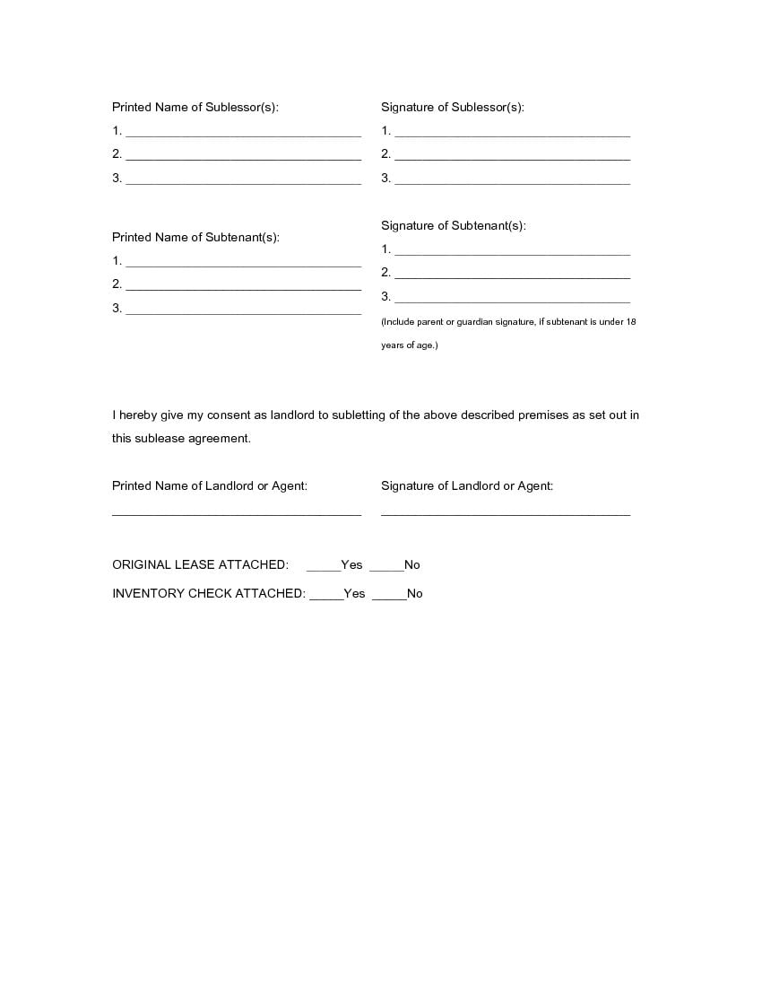 Download Free Alabama Sublease Agreement Form Printable