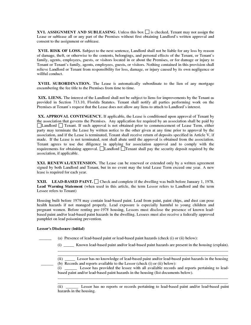 Florida-Residential-Lease-Agreement-6  Page Rental Application Form on free sample job, sample scholarship, blank scholarship, examples job, free printable job, sample rental, credit card,