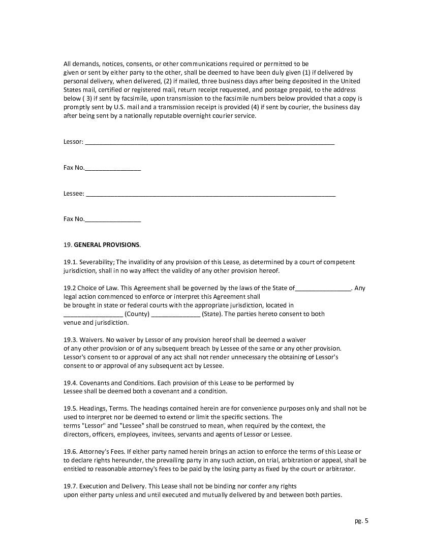 Download Free Full Time Horse Lease Agreement Printable