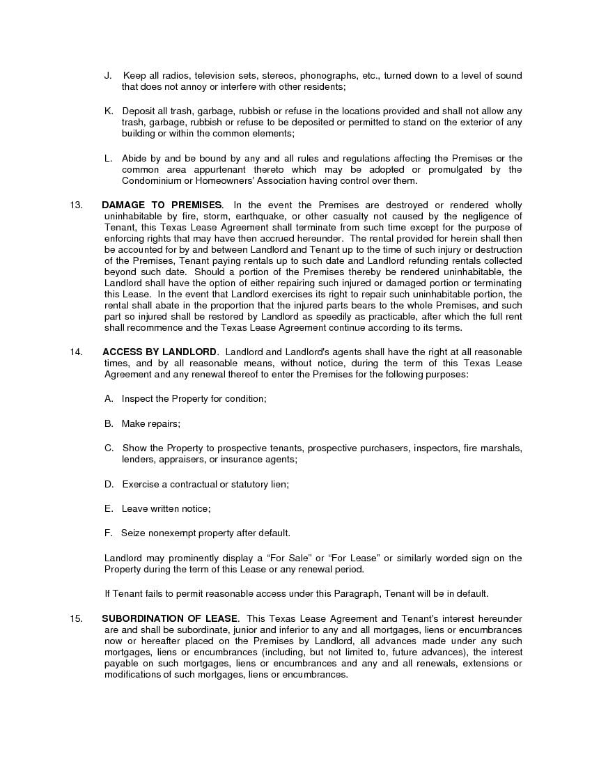 It is a graphic of Fabulous Printable Lease Agreement Texas